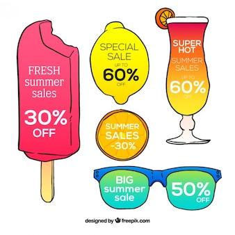 Etichette di divertimento per saldi estivi