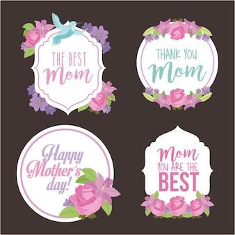 Etichette di madri felici