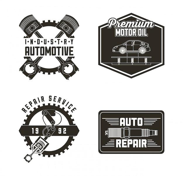Etichette di servizio automobilistico per l'industria