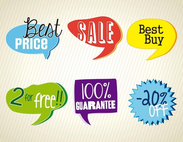 Etichette di vendita miglior prezzo colorato