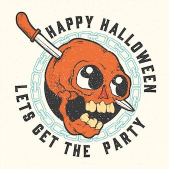 Etichette e distintivi di halloween.