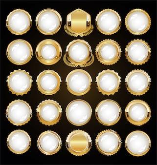 Etichette e distintivi dorati premium di lusso