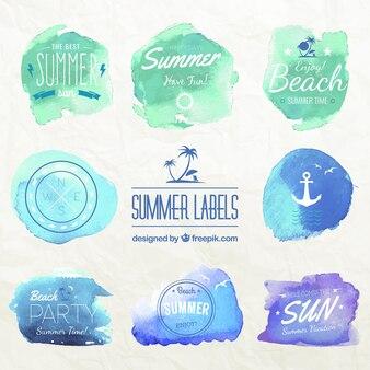 Etichette estate acquerello