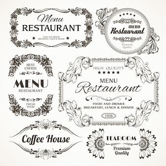 Etichette floreali del ristorante