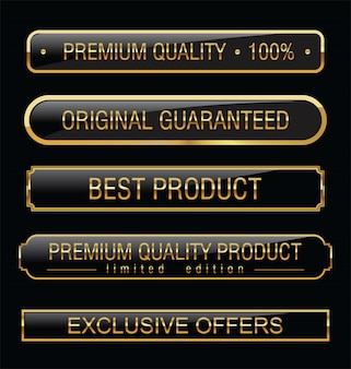 Etichette nere di qualità premium