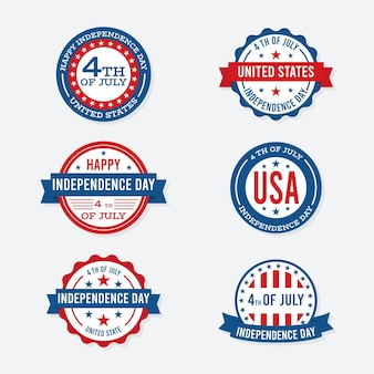 Etichette per il giorno dell'indipendenza