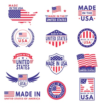 Etichette usa insegna dell'autoadesivo dell'emblema dell'emblema del nastro della stella del patriota della stella del bollo del contrassegno del distintivo dell'etichetta delle bandiere degli stati americani dell'america, bandiera