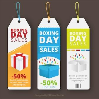Etichette vendite boxing day