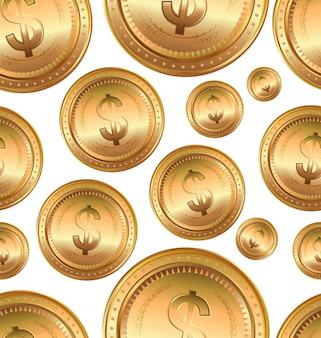 Euro moneta d'oro, sfondo senza soluzione di continuità