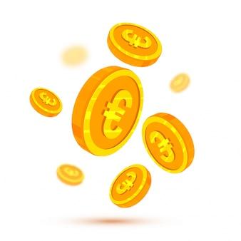 Euro monete d'oro, concetto di criptovaluta.