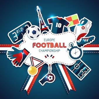 Europa football championship sport illustrazione vettoriale