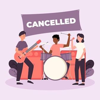Eventi musicali annullati con la band