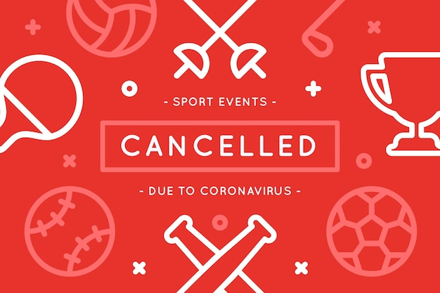 Eventi sportivi annullati a causa del coronavirus