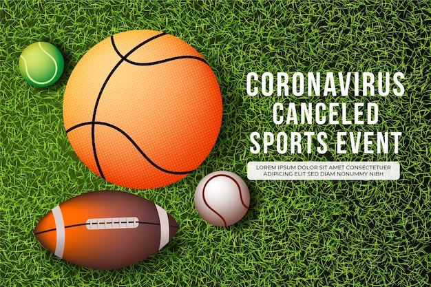 Eventi sportivi annullati - sfondo