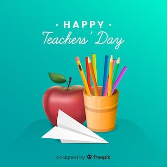 Evento del giorno degli insegnanti di design realistico