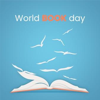 Evento del giorno del libro del mondo del design piatto