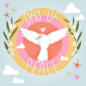Evento della giornata internazionale della pace illustrato