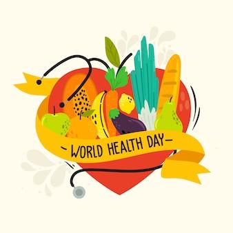 Evento della giornata mondiale della salute disegnato a mano