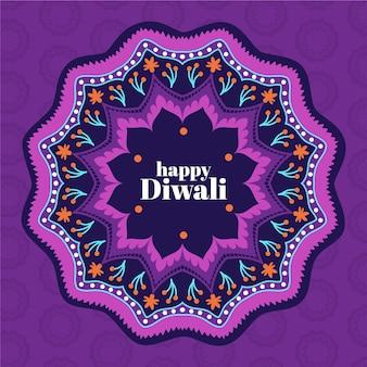 Evento di diwali felice design piatto
