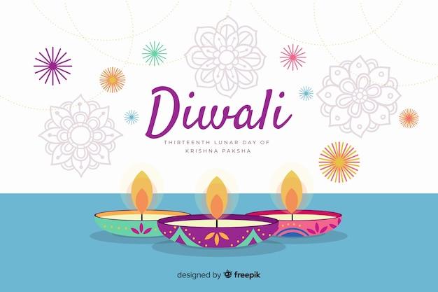 Evento di diwali sfondo disegnato a mano