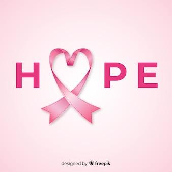 Evento di sensibilizzazione sul cancro al seno con nastro realistico