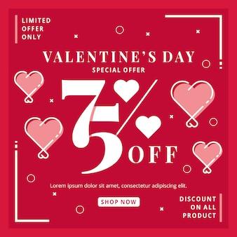 Evento di vendita di san valentino