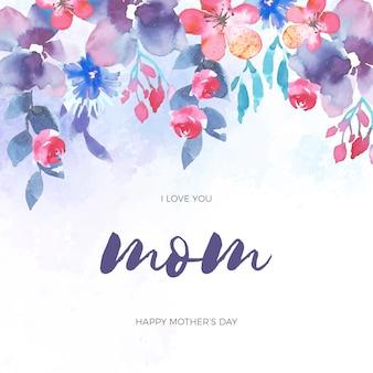 Evento festa della mamma di disegno floreale