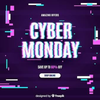 Evento glitch cyber lunedì