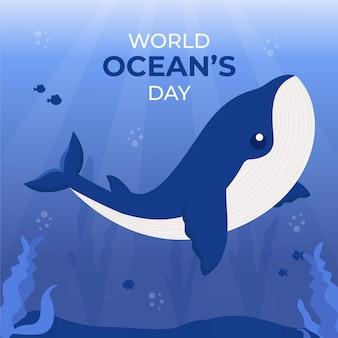Evento illustrato della giornata mondiale degli oceani