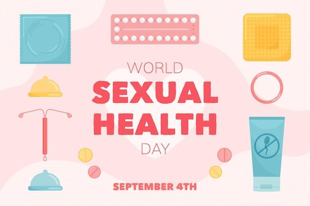 Evento mondiale della salute sessuale illustrato