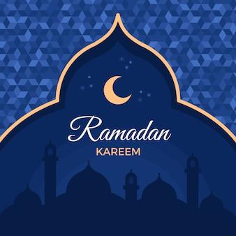 Evento ramadan design piatto