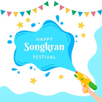 Evento songkran della macchia d'acqua