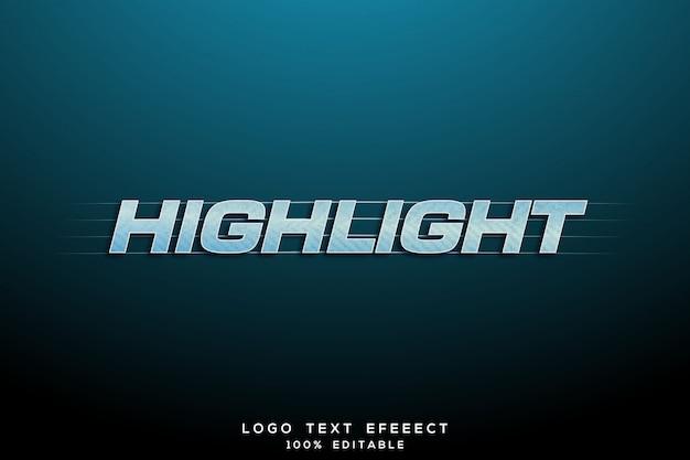 Evidenzia l'insegna 3d del logo del testo