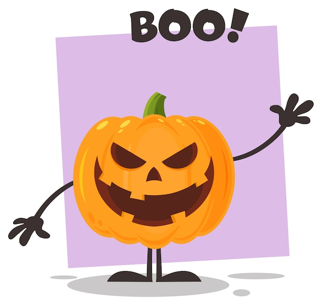 Evil personaggio di halloween halloween pumpkin cartoon emoji