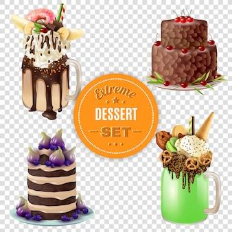 Extreme dessert combos set trasparente