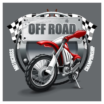 Extreme red off road motorbike