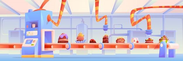 Fabbrica di caramelle, produzione di cioccolato