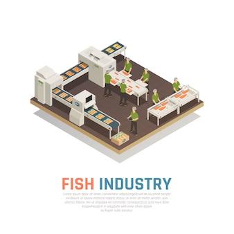 Fabbrica di pesce isometrica