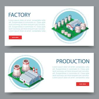 Fabbrica di processo, impianto tecnologico set di banner