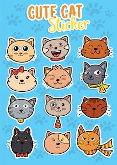Facce di gatto carino