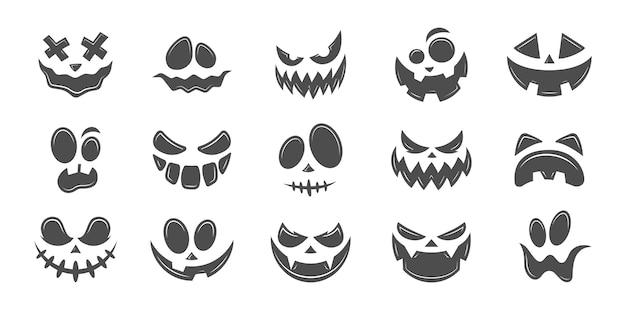 Facce di zucca di halloween