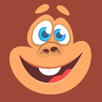 Faccia da scimmia divertente del fumetto per avatar