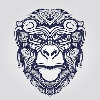 Faccia da scimmia funky