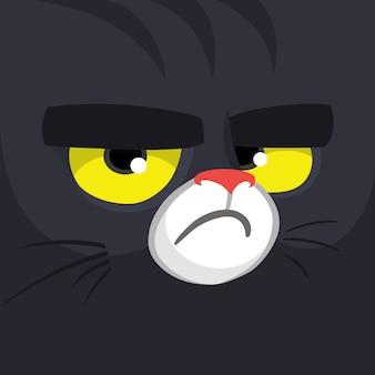 Faccia di gatto dei cartoni animati