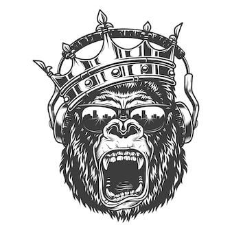 Faccia di re gorila