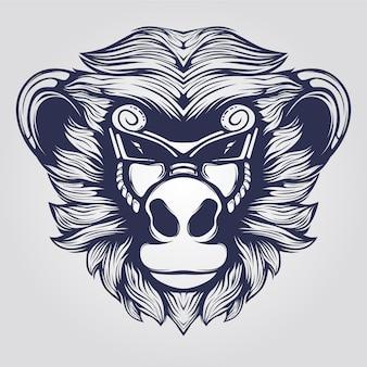 Faccia di scimmia