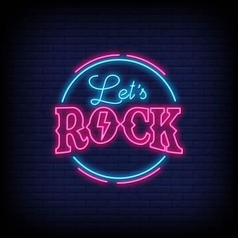 Facciamo rock lettering lettere al neon