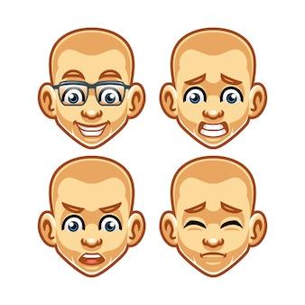 Face expression mascot design