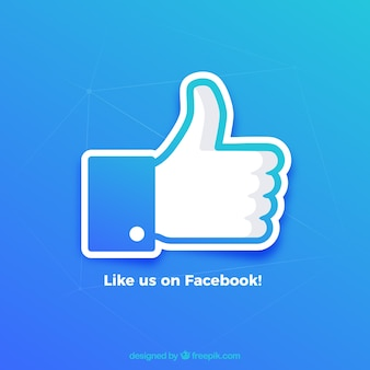 Facebook pollice come sfondo in colori sfumati