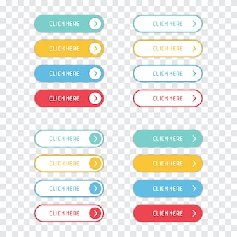 Fai clic qui pulsanti impostati su uno sfondo trasparente.